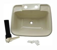 RV Boat Mobile Home Bisque Bathroom Lavatory Sink Kit Stopper Tail Piece