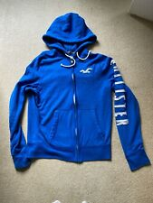 Hollister royal blue mens zip up hoodie size large