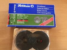 Pelikan Schreibband Naturseide 13 Mm DIN 10m Doppelspule 58 A 249 schwarz rot