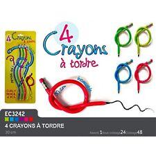 LOT DE 4 CRAYON DE PAPIER A TORDRE PAPETERIE SCOLAIRE