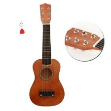 21 Inch Acoustic Guitar Wood for Children Kids Beginners w/ Pick Coffee