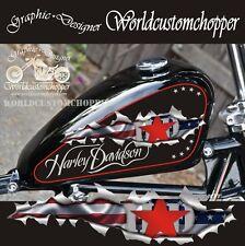 GRAFICA STRAPPO GOCCIA SERBATOIO 8/12 LIT. HARLEY DAVIDSON MOTO CUSTOM CHOPPERS