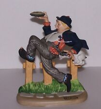 "Norman Rockwell Figurine by Danbury Mint ""Caught in the Act"" Excellent"