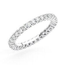 1.00ct Fishtail Set Round Cut Diamonds Full Eternity Ring in 950 Platinum