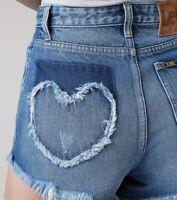 Lee Women's Vintage Modern Denim High Rise Cut Off Jean Shorts 25 NWT