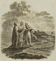 CHODOWIECKI (1726-1801). Die Jünger zu Emaus; Druckgraphik 1