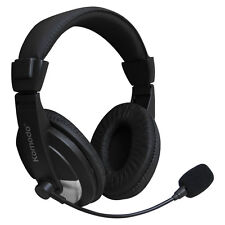 PC GAMING HEADPHONE WITH MIC FOR COMPUTER LAPTOP HEADSET MICROPHONE SKYPE MSN