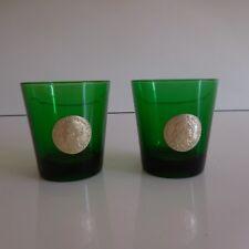 2 verres glasses DUBONNET monnaie roi de France design XXe 1970 art déco PN