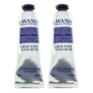 L'Occitane Hand Cream Lavender 2 x 30ml With Origin Essential Oil - NEW