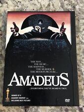 Amadeus (Dvd, 1984)~Original Snapcase~Region 1~Rare~Oop~Widescreen Lnc