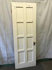 Wood Interior Door Bedroom 8 Panel Salvaged Architectural Vintage w/ Full Mirror