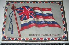 "SOUTH AUSTRALIA Vintage c.1910 TOBACCO FELT/FLAG - Measure 7 1/2 x 10 1/2"""