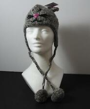 Knitwits Handmade Grey Mimi Mousey Animal Pilot Hat Kids/Toddler (Age 2-6) GY5