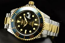Invicta Men 47mm Grand Diver Charcoal Bezel Automatic Two Tone Bracelet Watch