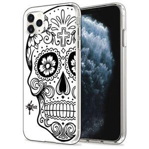 Custodia Cover Morbida INKOVER per iPhone Teschio 1 Mexican Skull Calaveras Art