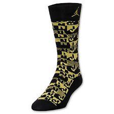 Jordan Air Sneaker Socks Men's Black/Vibrant Yellow Large NWT Close Out Sale