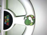 PowerA Yoshi Mario Kart 8 Racing Steering Wheel for Nintendo Wii/WiiU