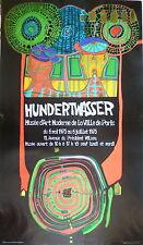 Hunbertwasser Affiche Originale 1974 Art Abstrait Abstraction Allemagne