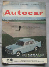 Autocar magazine 16/2/1962 featuring Sunbeam Alpine Harrington Le Mans road test