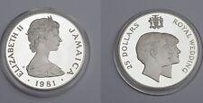 25 Dollars Jamaika 925 Silber Proof 1981 Wedding Prince Charles Diana COA