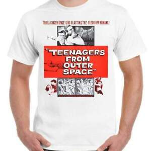 Teenagers from Outer Space - Unisex White T-Shirt - Geek Retro Fun Kitsch