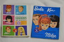 Vintage Barbie Ken Midge Dark Blue Fashion Booklet Exclusive Fashion Booklet