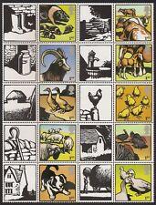 GB 2005 sg LS22 Farm Animals Part Half Smiler Sheet MNH