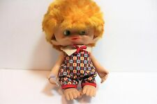 "Rare Vintage 1965 MONKEY BOY - 8"" Unica Troll Doll - Made In Belgium"