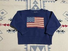 Ralph Lauren Polo Youth RL American Flag pullover knit sweater Size 12-24m C9