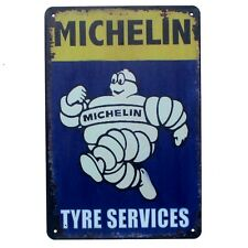 Metal Tin Sign michelin tyre service Pub Home Vintage Retro Poster Cafe ART