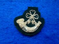 1 X LIGHT INFANTRY OFFICERS MESS DRESS SILVER BULLION COLLAR BADGE, UK MADE