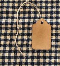 100 XSMALL Coffee Stained Primitive Antique Store Price Gift Hang Tags Lot