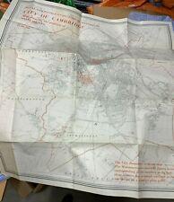 "VINTAGE HUGE MASSIVE MAP OF CITY OF CAMBRIDGE & IT'S MONUMENTS H37.5"" x W34"""