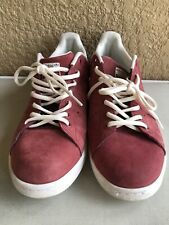 adidas Stan Smith Tennis Shoes Sneakers Men's Maroon Berry Size 12