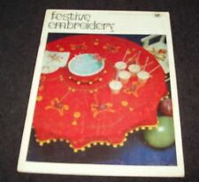 VINTAGE COATS SEWING GROUP BOOK NO 1109 - FESTIVE EMBROIDERY