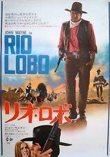 RIO LOBO Japanese B2 movie poster JOHN WAYNE HOWARD HAWKS WESTERN 1970
