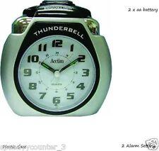 New Acctim Thunderbell  Alarm Clock Large Silver Very Loud 13007