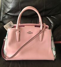 Coach Crossbody/Handbag Flower Print in Pink