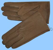 NEW MENS size 8.5 or Medium KHAKI COW LEATHER UNLINED GLOVES shade 10523