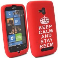 NOKIA LUMIA N610 ROSSO Keep Calm Stay Reem Gel cellulare custodia cover coefficiente