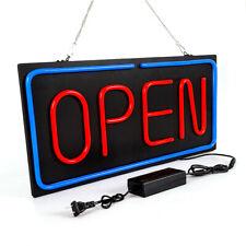 Neon Open Sign Led Pvc Light Horizontal Restaurant Pubs Game Rooms Ac 100-240V