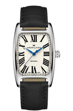 *BRAND NEW* Hamilton Men's BOULTON White Dial Black Leather Watch H13519711