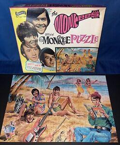 BEAUTIFUL 1967 Vintage The Monkees 340 pc Fairchild Puzzle Beach Scene 1480 Box
