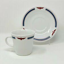 American President Lines Demitasse Cup & Saucer w/ Eagle Logo - Excellent