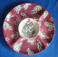 Michal Sparks Zrike ceramic holiday Christmas Tree divided dip serving platter