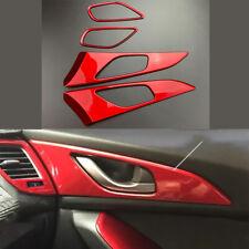 FOR Mazda Axela 3 2017-2019 Bright red Interior door bowl sticker trim 4pcs