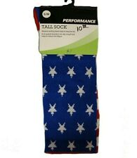 Performance TALL CREW FLAG SOCKS STARS & STRIPES 114778 Size S/M NWT