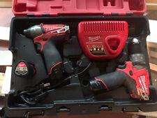 Milwaukee M12 FUEL Hammer Drill & Impact Driver Set (2404-20 & 2453-20)