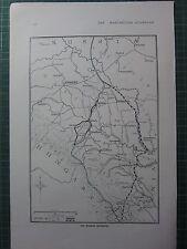 1917 WWI WW1 PRINT ~ RUSSIAN RETREATS MAP SHOWING LINES BRZEZANY TARNOPOL