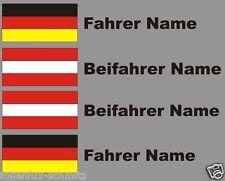Aufkleber Rallye Racing Deutsch-Österreich DTM Motorsport Name + Flagge